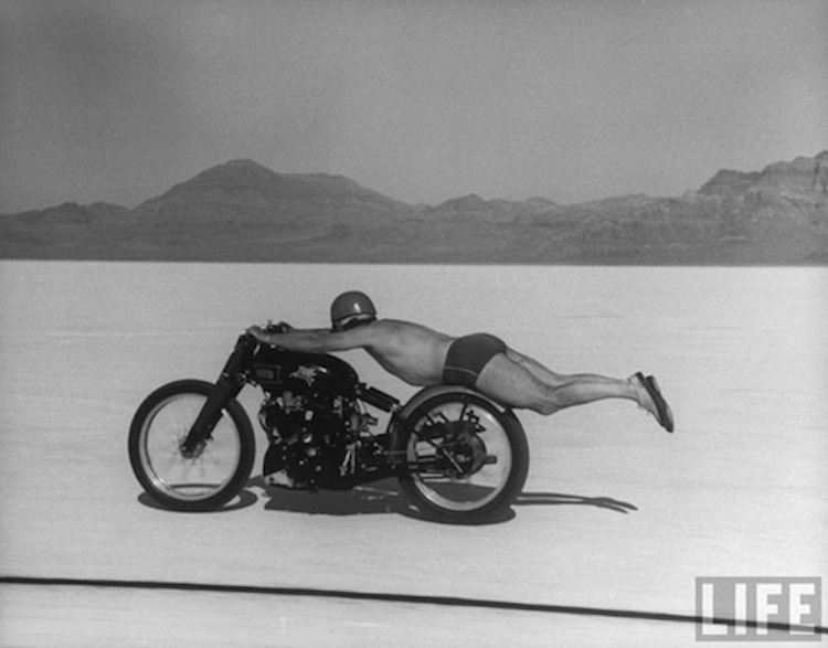 rollie free, salt flats, 4E2W, vintage motorcycle