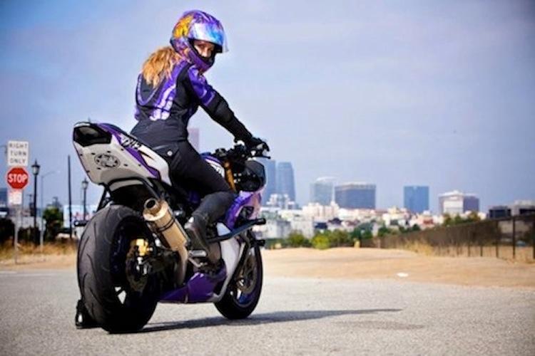 sportbike, woman rider