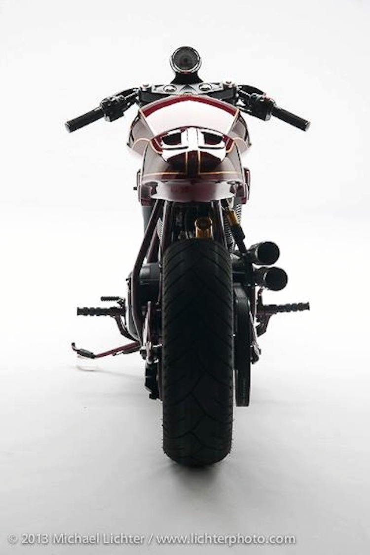 cafe racer, rear shot, michael lichter, ton-up