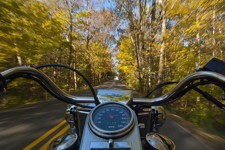 Fall POV Motorcycle