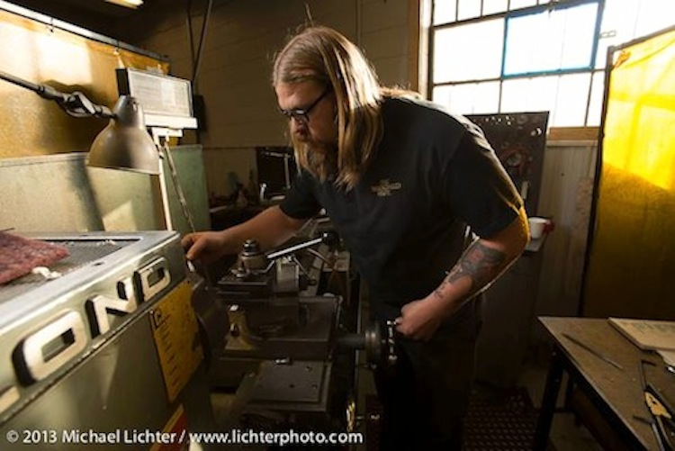 lathe, machining motorcycle parts