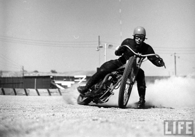 Flattrack racing, Vintage motorcycle racing, Life Magazine