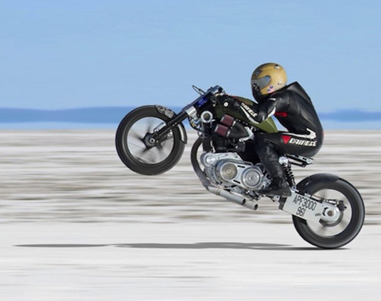 Confederate Motorcycles, Wheelie on the salt flats, V-Twin