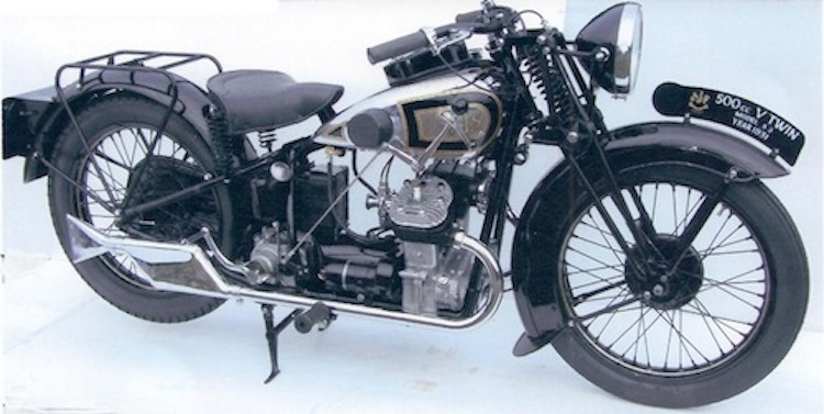 AJS, 500cc, V-Twin