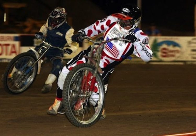 Speedway racer, motorcycle speedway