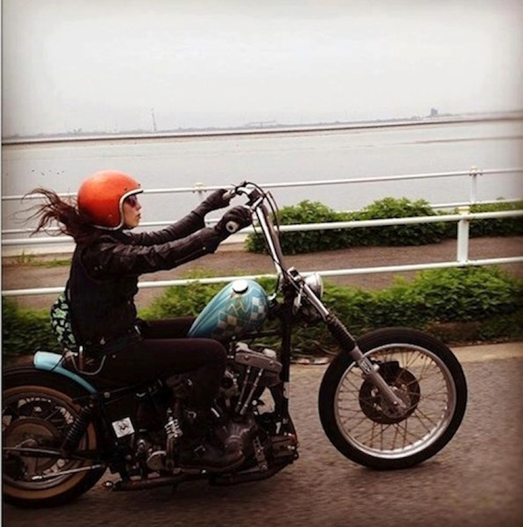 woman chopper rider,