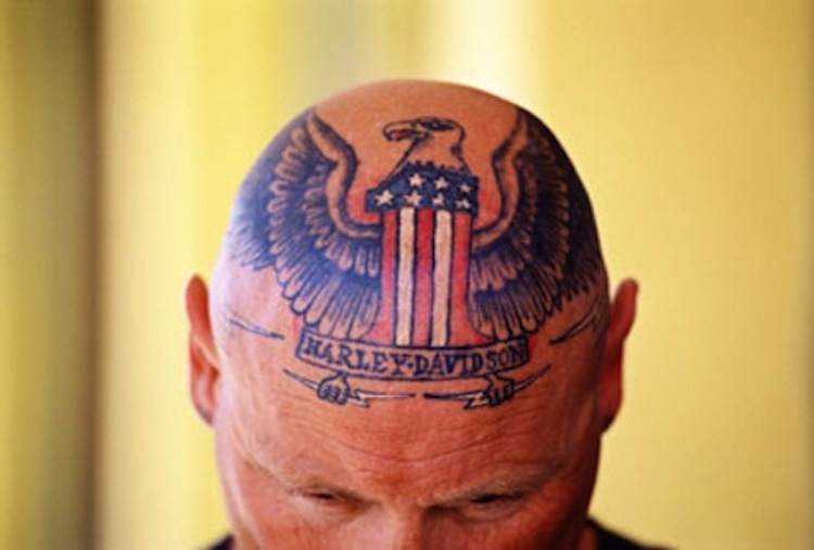 Head Tattoo, Harley Head Tattoo