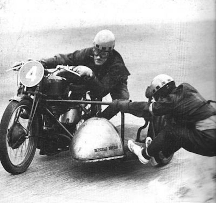 black and white sidecar photo