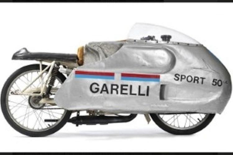 Garelli Vintage Motorcycle, vintage streamliner