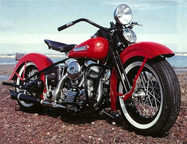 First year pan, first year Panhead, 1948 Pan, Red Panhead