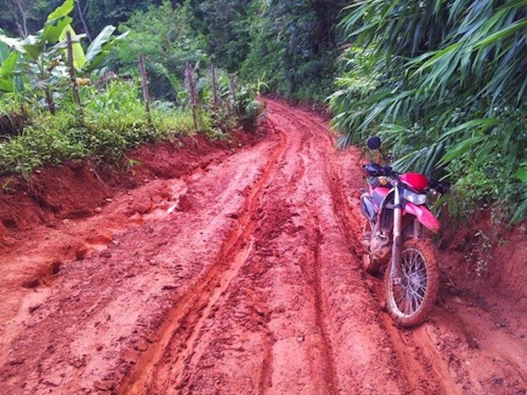 Red dirt, motorcycle dirt