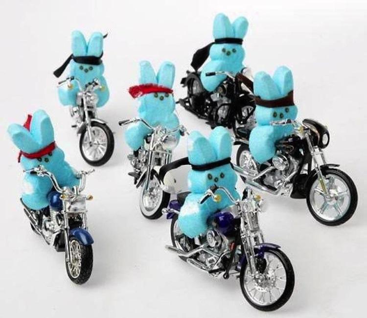 biker peeps, peeps diorama