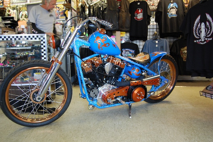 Harley, Shovelhead, Blue Shovel