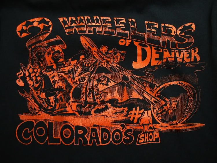 Motorcycle t-shirt, 2 Wheelers Denver