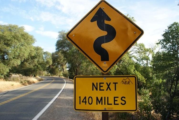 Turns next 140 miles, motorcycle road, best motorcycle road