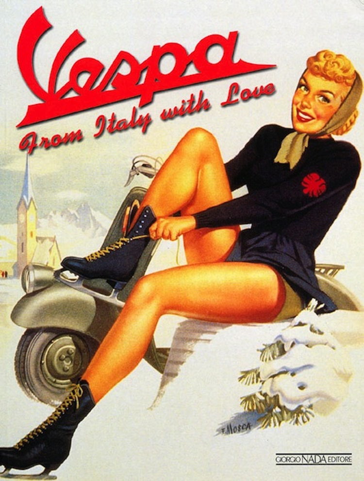 Vespa ad, classic vespa ad, From Italy with Love