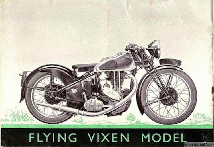 AJW motorcycle, Flying Vixen, Vintage Motorcycles
