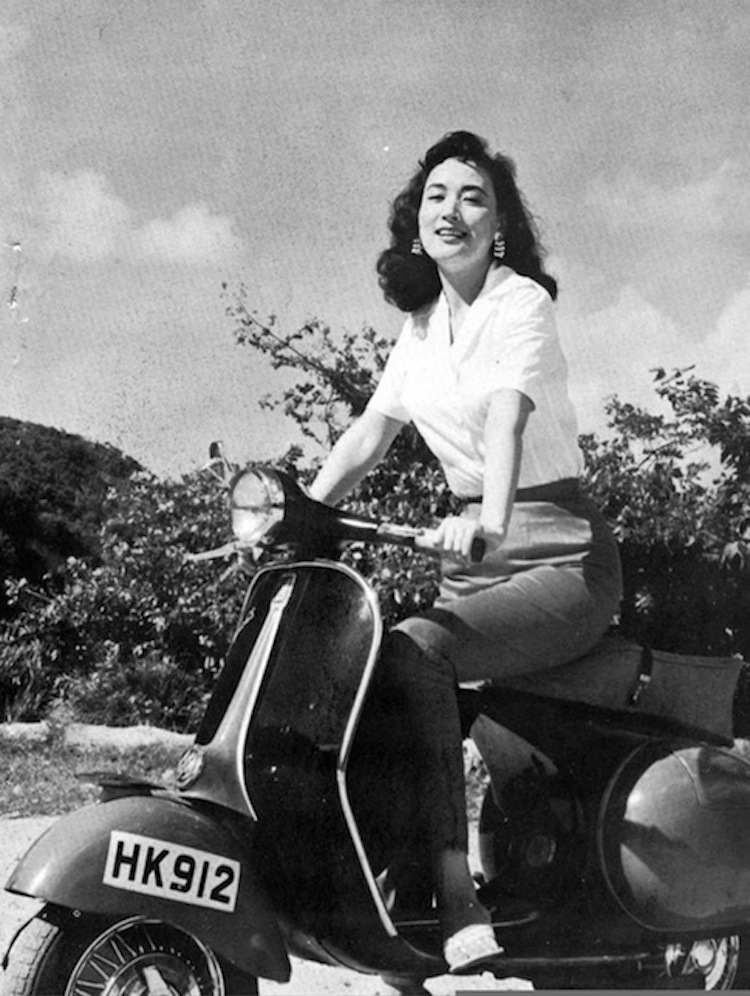 Yeh Feng, Scooter, black and white scooter image