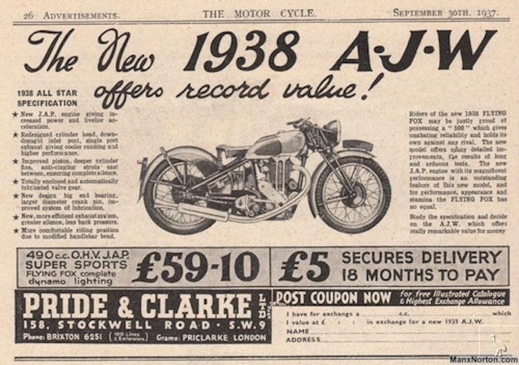 AJW Motorcycle ad, AJW motorcycle