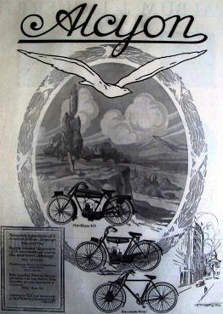 Alcyon, French Motorcycle, Vintage Motorcycle, advertisement