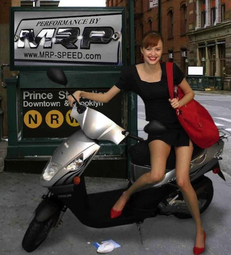Awkward scooter shoot, scooter girl awkward