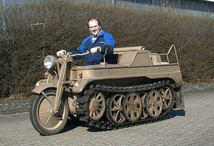 tank motorcycle, weird army motorcycle