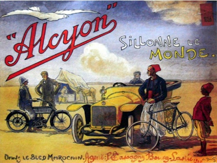 Alcyon, French Motorcycle, Vintage Motorcycle, advertisement vintage