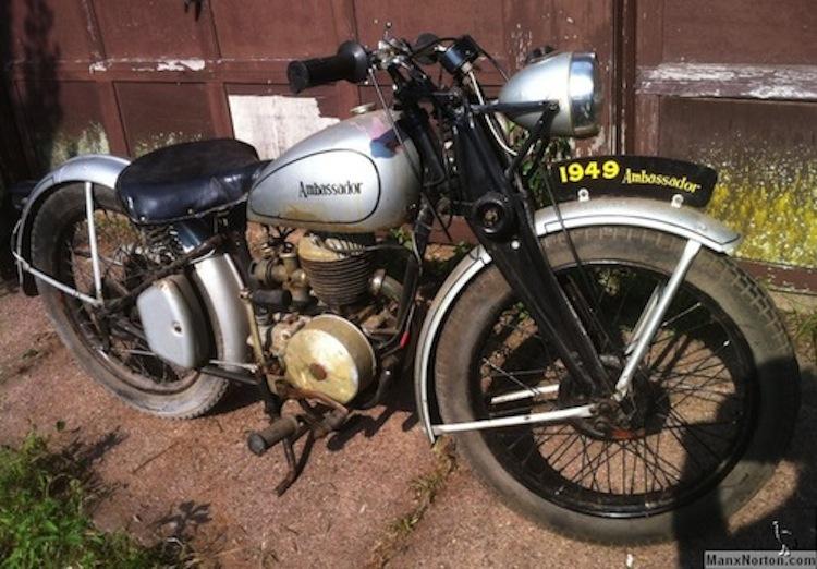 1949 Ambassadro Motorcycle