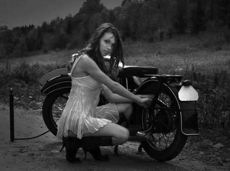 Hot Babe motorcycle, model motorcycle, motorcycle woman