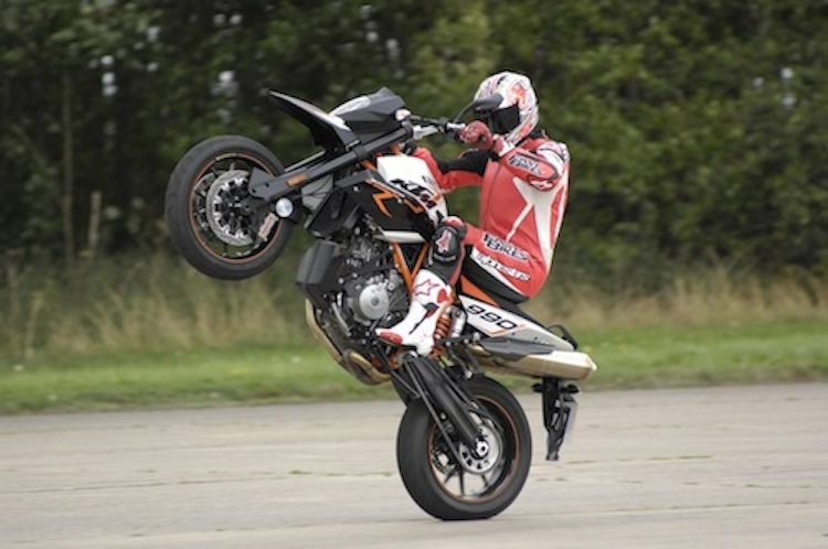 motorcycle wheelie