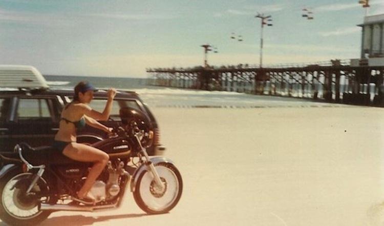 bikini motorcycle rider, bikini rider, bikini beach