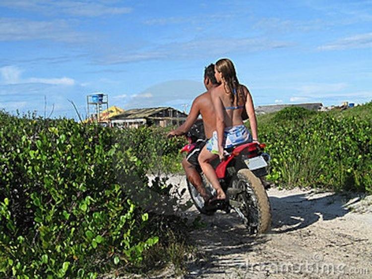 beach motorcycle, motorcycle sand, dirt bike couple on beach, bikini on  bike