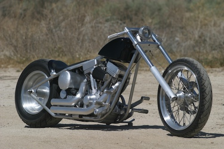 Exile Motorcycles, Russell Mitchell, Flat Black, Custom motorcycle, Twin Cam harley, Steve Kelly Photography, long chopper