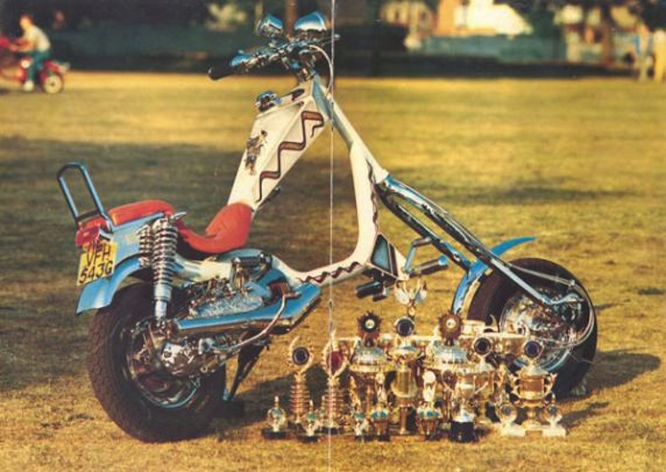 Exile Motorcycles, Russell Mitchell, Custom scooter