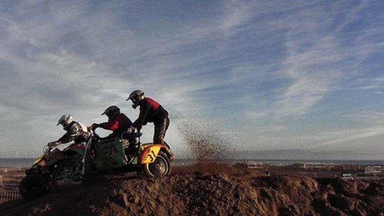 sand sidecar racing, racing sidecar