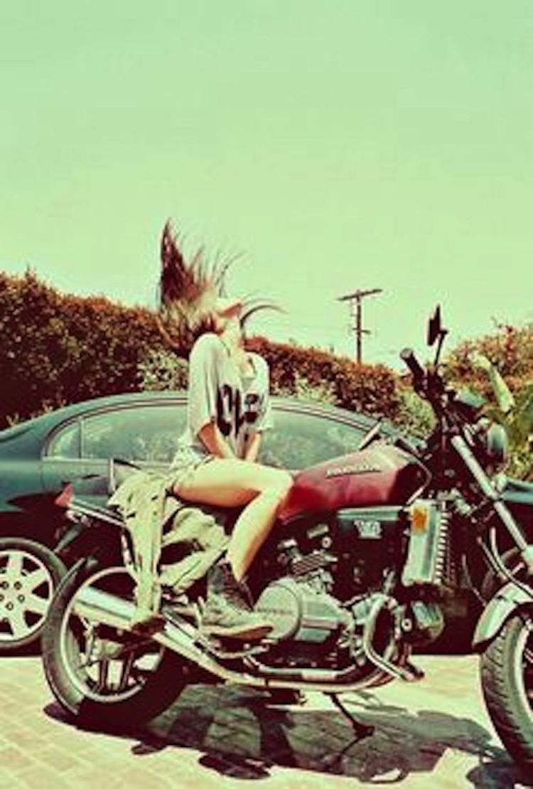 Hair motorcycle, woman motorcycle, girl motorcycle