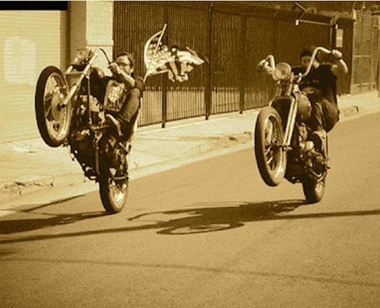 wheelie, chopper wheelie
