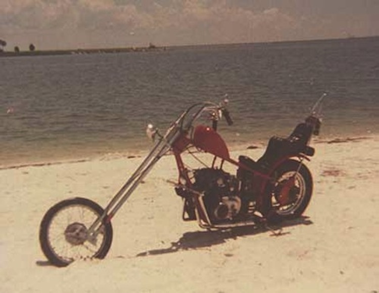 Honda Chopper on the Beach, beach chopper, chopper on the beach