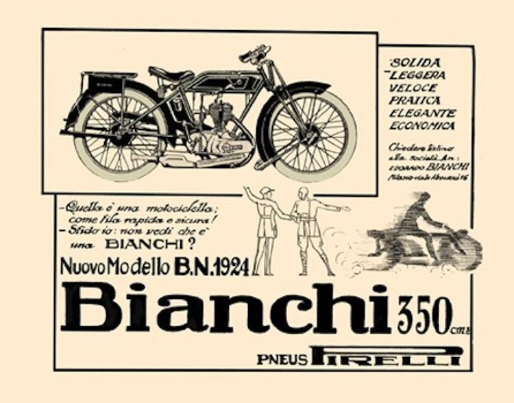 Bianchi, Bianchi moto, classic italian motorcycle, vintage bianchi motorcycle, bianchi ad, 1924