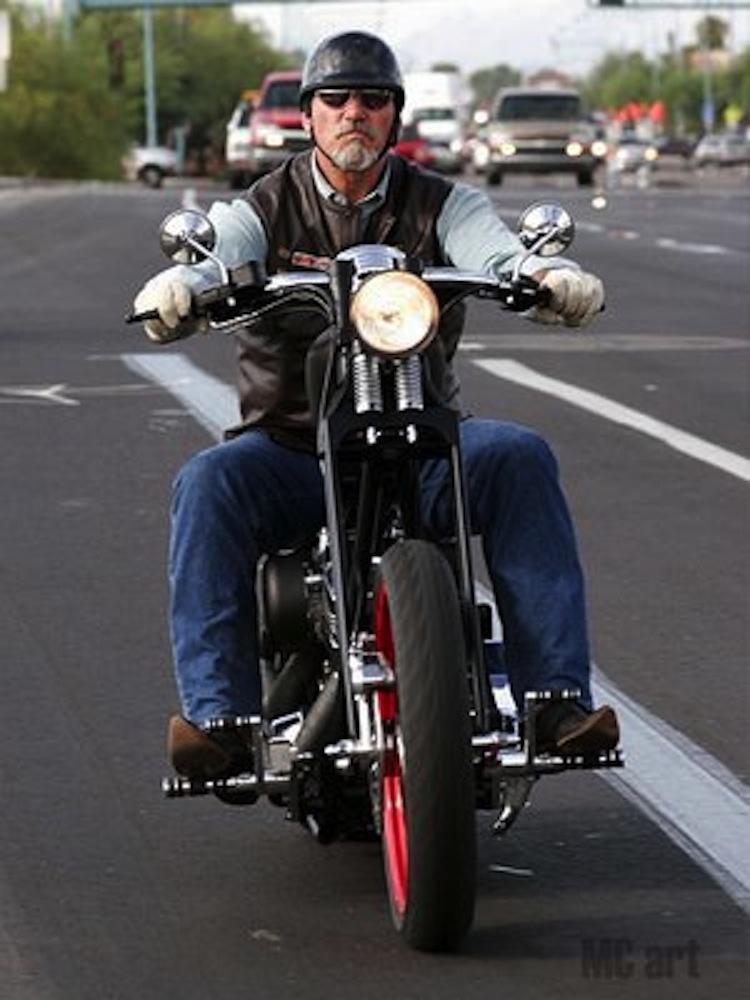 "Keith ""Bandit"" Ball, Bikernet, choppers, custom choppers, custom harley"
