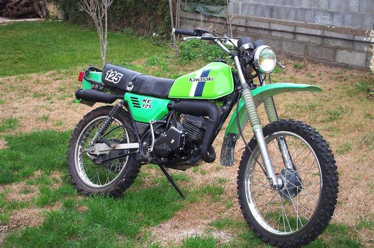 Vintage Kawasaki, Kawasaki KE125, First motorcycle ride, first ride, motorcycle first,