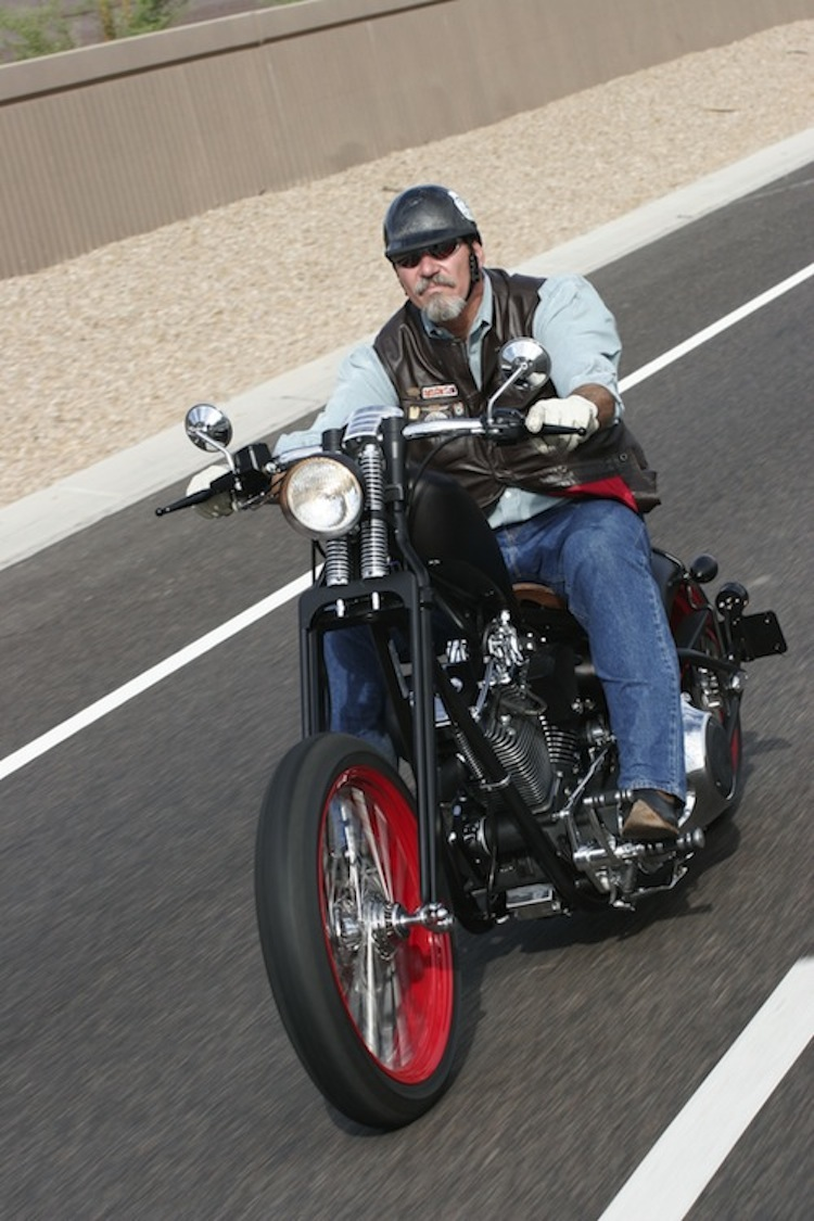 "Keith ""Bandit"" Ball, Bikernet, choppers, custom choppers, custom harley, Saxon"