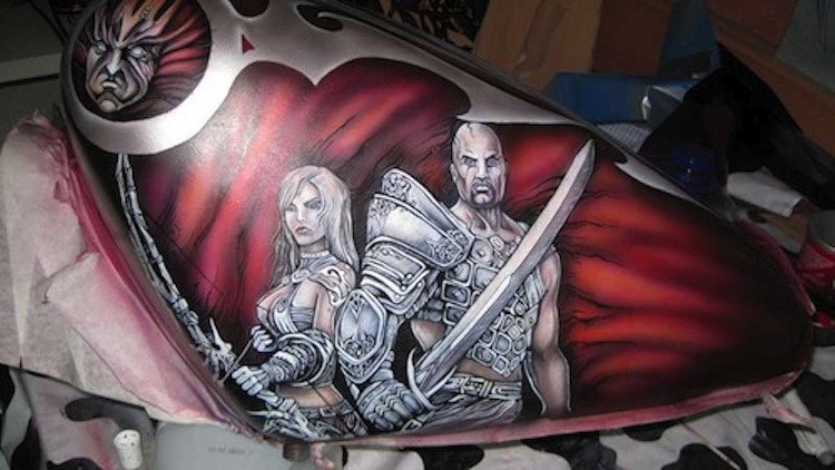 freya__airbrushing_on_motorcycle_gas_tank_by_marimerabi-d5pzf30