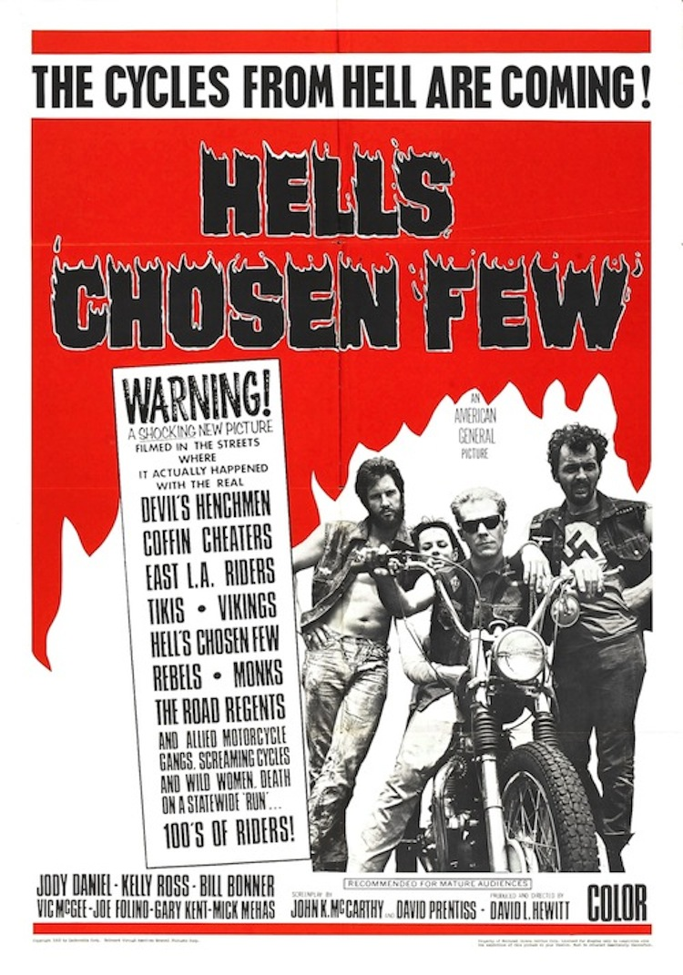 vintage movie poster, vintage motorcycle movie poster