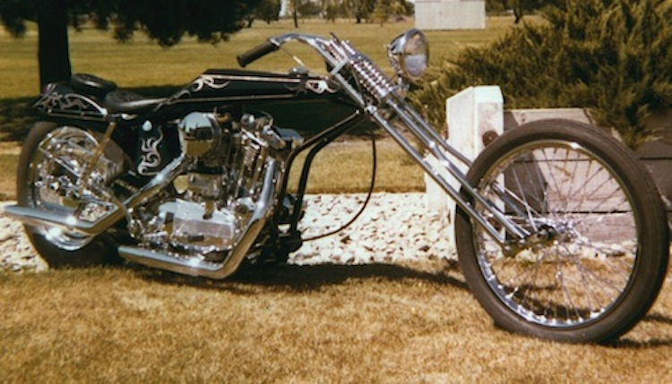 4E2W, Long Bike, chopper, digger, custom chopper, vintage chopper, vintage motorcycle, Arlen Ness