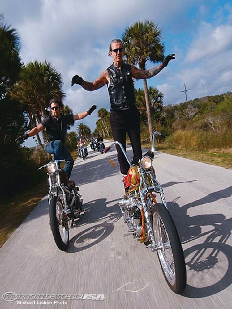 Paul Cox and Indian Larry Photo by Michael Lichter